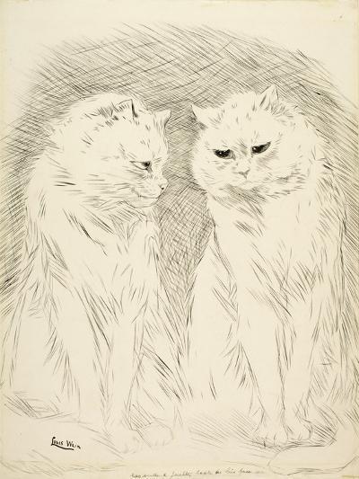Pals-Louis Wain-Giclee Print