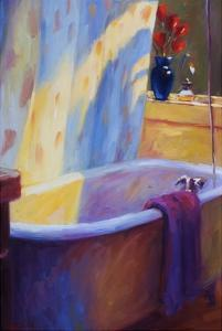 Tub and Tulips II by Pam Ingalls