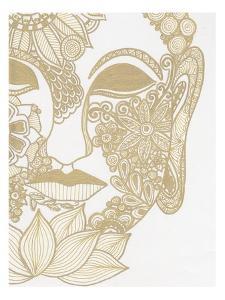 Budahh Head Gold by Pam Varacek