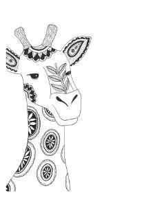 Lone Giraffe by Pam Varacek