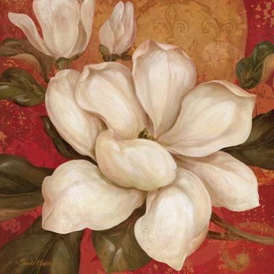 Magnolia on Red I by Pamela Gladding