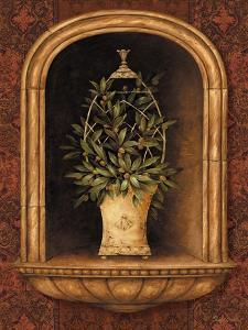 Olive Topiary Niches I by Pamela Gladding