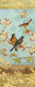 Robins & Blooms Panel by Pamela Gladding