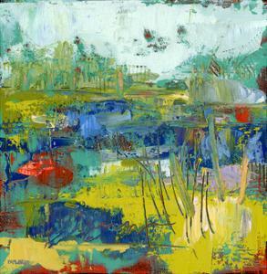 Abstract Summer Marsh by Pamela J. Wingard