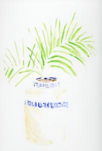 Blue and White Botanical III by Pamela J. Wingard
