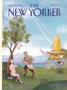 The New Yorker Cover - June 29, 1992 by Pamela Paparone