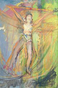 Walking a Tightrope, 1992 by Pamela Scott Wilkie
