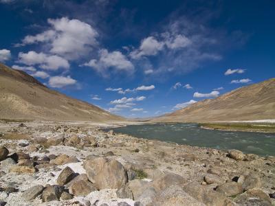 Pamir River, Tajikistan, Central Asia-Michael Runkel-Photographic Print