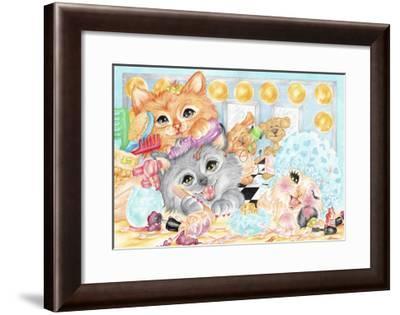 Pampered Pets-Karen Middleton-Framed Giclee Print