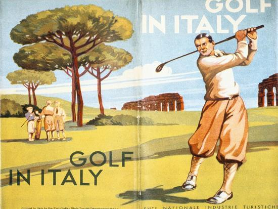 Pamphlet advertising golf in Italy, 1932-Unknown-Giclee Print