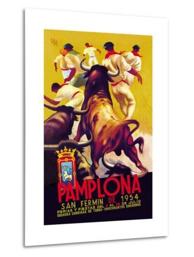 Pamplona, San Fermin-Charles Dana Gibson-Metal Print