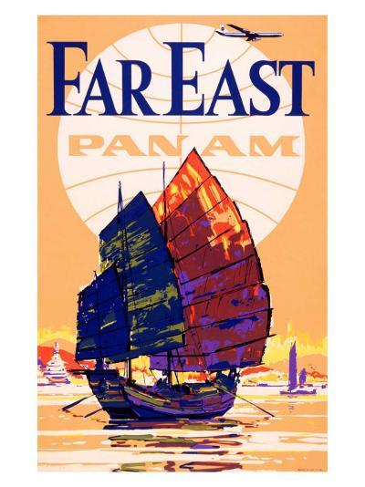 Pan Am Airlines Far East--Giclee Print