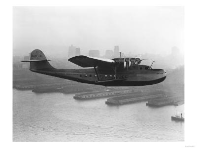 Pan American China Clipper and San Francisco Skyline Photograph No.2 - San Francisco, CA-Lantern Press-Art Print
