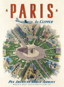Pan American: Paris by Clipper, c.1951