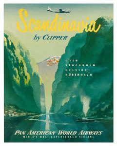 Pan American: Scandinavia by Clipper, c.1951