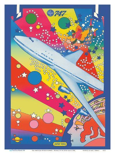 Pan American World Airways - Boeing 747 - Pop Art-Peter Max-Art Print