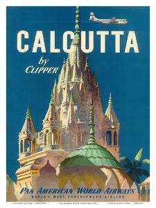 Pan American World Airways (PAA) - Calcutta India by Clipper - Pareshnath Jain Temple