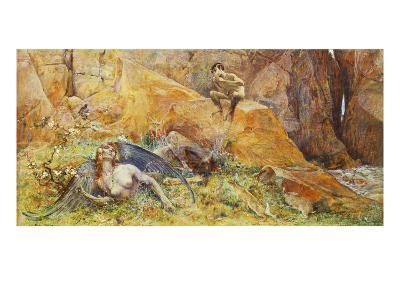 Pan and Chimera-Luc Olivier Merson-Giclee Print