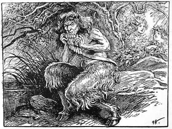 Pan, from 'The Book of Myths' by Amy Cruse, 1925-Unknown-Giclee Print