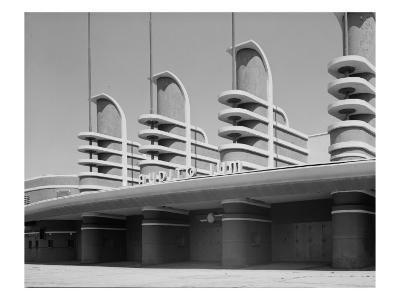 Pan Pacific Auditorium Achieves the Styling of the Streamlined World's Fairs of 1930s, Los Angeles--Photo