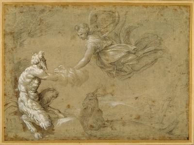 Pan Presenting the Wool to Diana-Annibale Carracci-Giclee Print