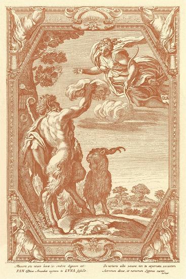 Pan with Goat--Art Print
