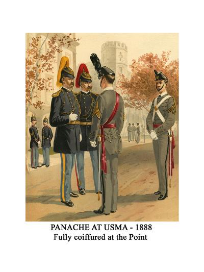 Panache at Usma - 1888 - Fully Coiffured at the Point-Henry Alexander Ogden-Art Print