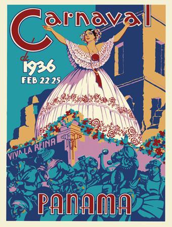 Panama Carnaval de (Carnival of) Feb 22-25, 1936 - Viva La Reina (Hail to the Queen)