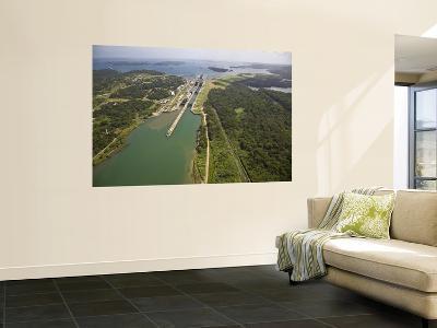 Panama, Panama Canal, Container Ships in Gatun Locks-Jane Sweeney-Wall Mural