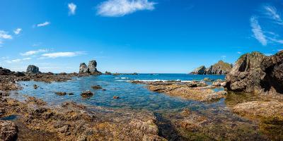 Panaroma View in Playa Del Silencio (Beach of Silence)-Javier Delgado Muñoz-Photographic Print
