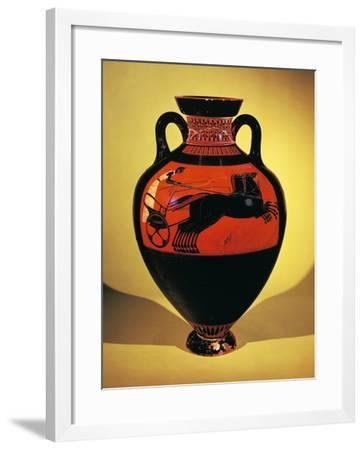 Panathenaic Amphora Decorated with Figure of Racing Chariot--Framed Giclee Print
