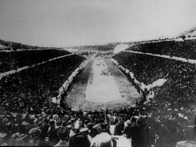 Panathenian Stadium During Olympic Games--Photographic Print