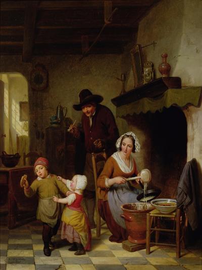 Pancake Day, 1845-Basile De Loose-Giclee Print