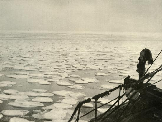 'Pancake Ice in the Ross Sea', c1908, (1909)-Unknown-Photographic Print