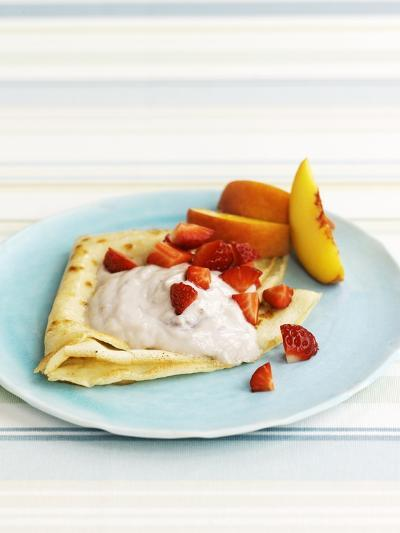 Pancakes with Fruit and Yoghurt Sauce-Gareth Morgans-Photographic Print