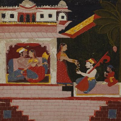 Pancham Ragini - a Handmaiden of an Enamoured Couple Rewards a Musician--Giclee Print