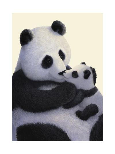Panda Bear and Cub--Art Print