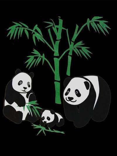 Panda Bear Family With Bamboo-Wonderful Dream-Art Print