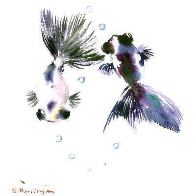 Panda Goldfish-Suren Nersisyan-Art Print