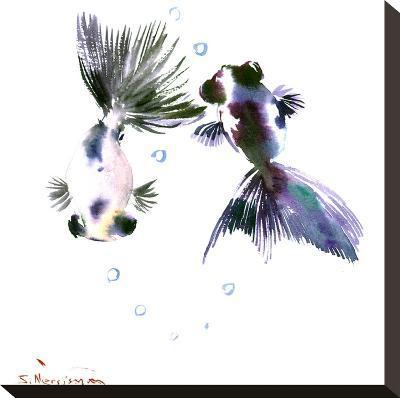 Panda Goldfish-Suren Nersisyan-Stretched Canvas Print