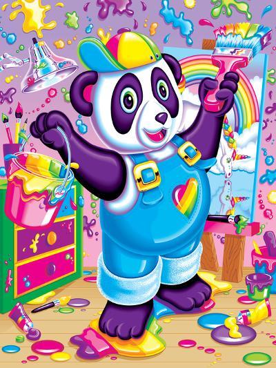 Panda Painter '93-Lisa Frank-Art Print
