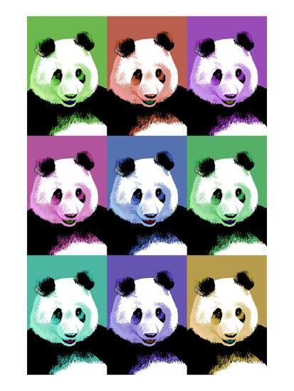 Panda Pop Art - Visit the Zoo-Lantern Press-Art Print