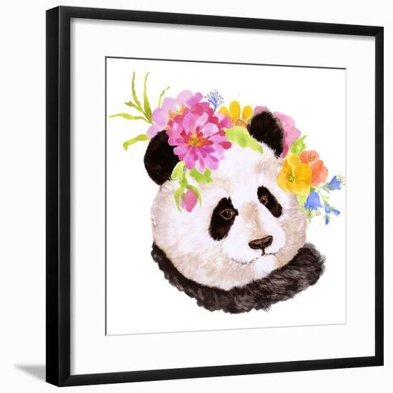 Panda-Edith Jackson-Framed Art Print