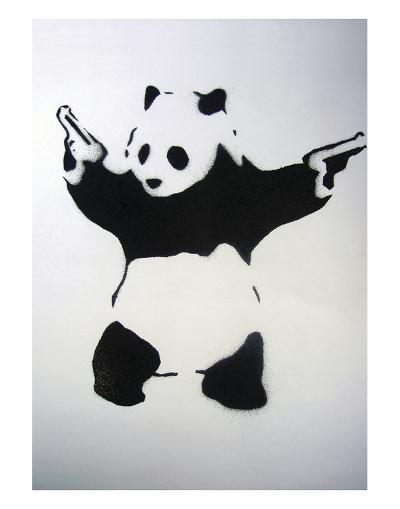 Pandamonium-Banksy-Art Print