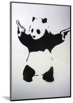 Pandamonium-Banksy-Mounted Art Print