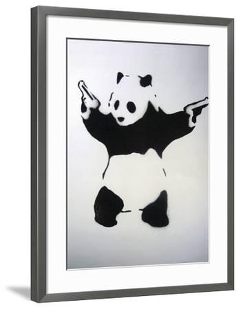 Pandamonium-Banksy-Framed Giclee Print