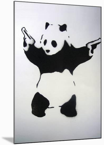 Pandamonium-Banksy-Mounted Giclee Print