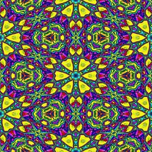 Floral Kaleidoscope Pattern by PandaWild