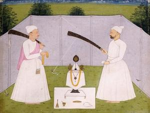 Pandits Attending Balwant Singh's Personal Shrine, C. 1750