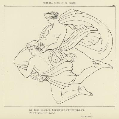 Pandora Brought to Earth-John Flaxman-Giclee Print